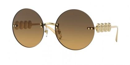 Versace 0VE2214 100218 Gold - Orange Gradient Light Green