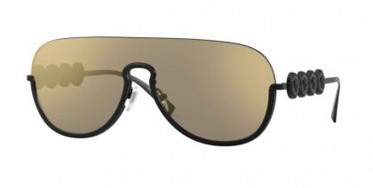 Versace 0VE2215 12615A Matte Black - Light Brown Mirror Gold