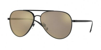 Versace 0VE2217 12615A Matte Black - Light Brown Mirror Dark Gold