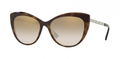 Versace 0VE4348 52697I  Dark Havana - Brown Mirror Gold Grad