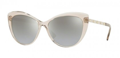 Versace 0VE4348 52706V  Transparent Rose Brown - Light Grey Mirror Grad Silver