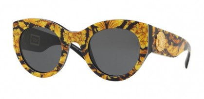 Versace 0VE4353 528387 Baroque Yellow Black - Grey