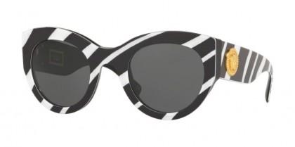 Versace 0VE4353 531387 Zebra White/Black - Grey