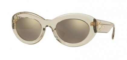 Versace 0VE4355B 52885A  Transparent Beige - Light Brown Mirror Gold