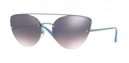 Vogue 0VO4074S 5077/H9 Matte Azure - Rose Gradient Grey Mirror Blue