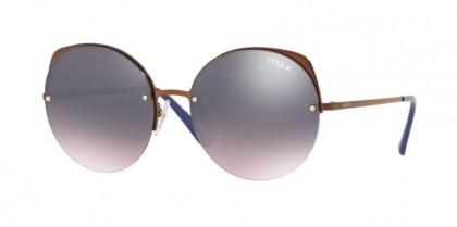 Vogue 0VO4081S 5074H9 Copper - Rose Gradient Grey Mirror Blue