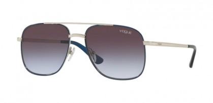 Vogue 0VO4083S 323/4Q Silver Navy - Light Violet Grad Dark Grey