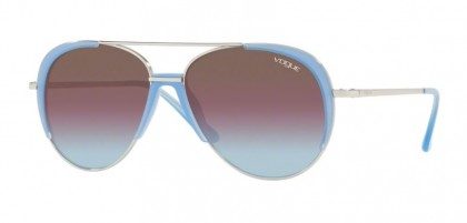 Vogue 0VO4097S 323/H7 Silver - Azure Grad Pink Grad Brn Mirr Red