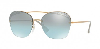 Vogue 0VO4104S 50757C Light Rose Gold - Azure Gradient Mirror Black