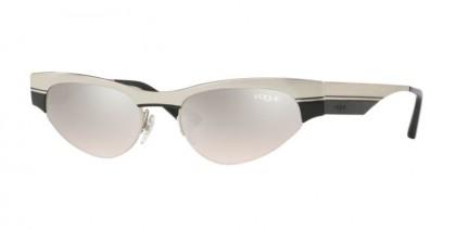 Vogue 0VO4105S 323/8Z Brushed Silver Black - Lght Brwn Mirror Silvr Grdient