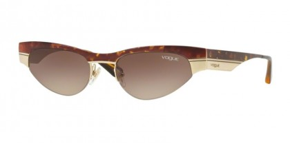 Vogue 0VO4105S 507813 Havana Brushed Pale Gold - Brown Gradient