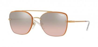 Vogue 0VO4112S 50757E Rose Gold - Light Pink Mirror Grad Silver