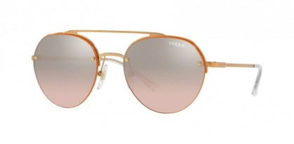 Vogue 0VO4113S 50757E Rose Gold - Light Pink Mirror Grad Silver