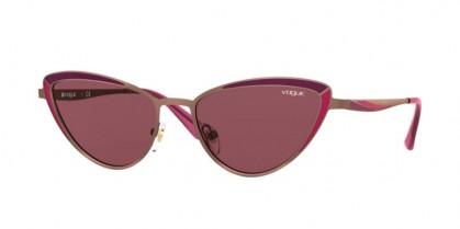 Vogue 0VO4152S 507469 Copper/Matte Bordeaux Red - Dark Violet