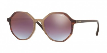 Vogue 0VO5222S 2639H7 Opal Beige Gliett Gradient Havana - Azure Gradient Pink Gradient Brown Mirror Red