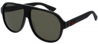 Gucci GG0009S-001 Black Black - Shiny Green