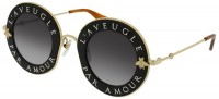 Gucci GG0113S-001 Black Gold - Gold Grey