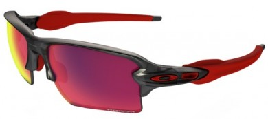 Oakley SPORT 0OO9188 FLAK 2.0 XL 918804 - Matte Grey Smoke - Prizm Road