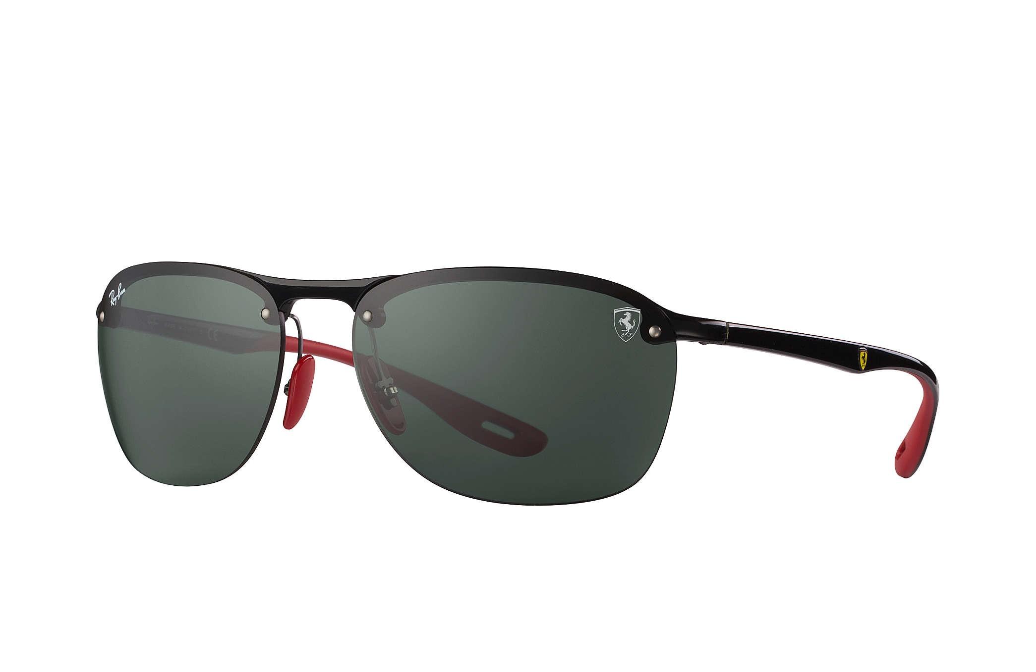 19ed8e5c1 Ray Ban 0RB4302M F60171 SCUDERIA FERRARI COLLECTION Black Red - Green