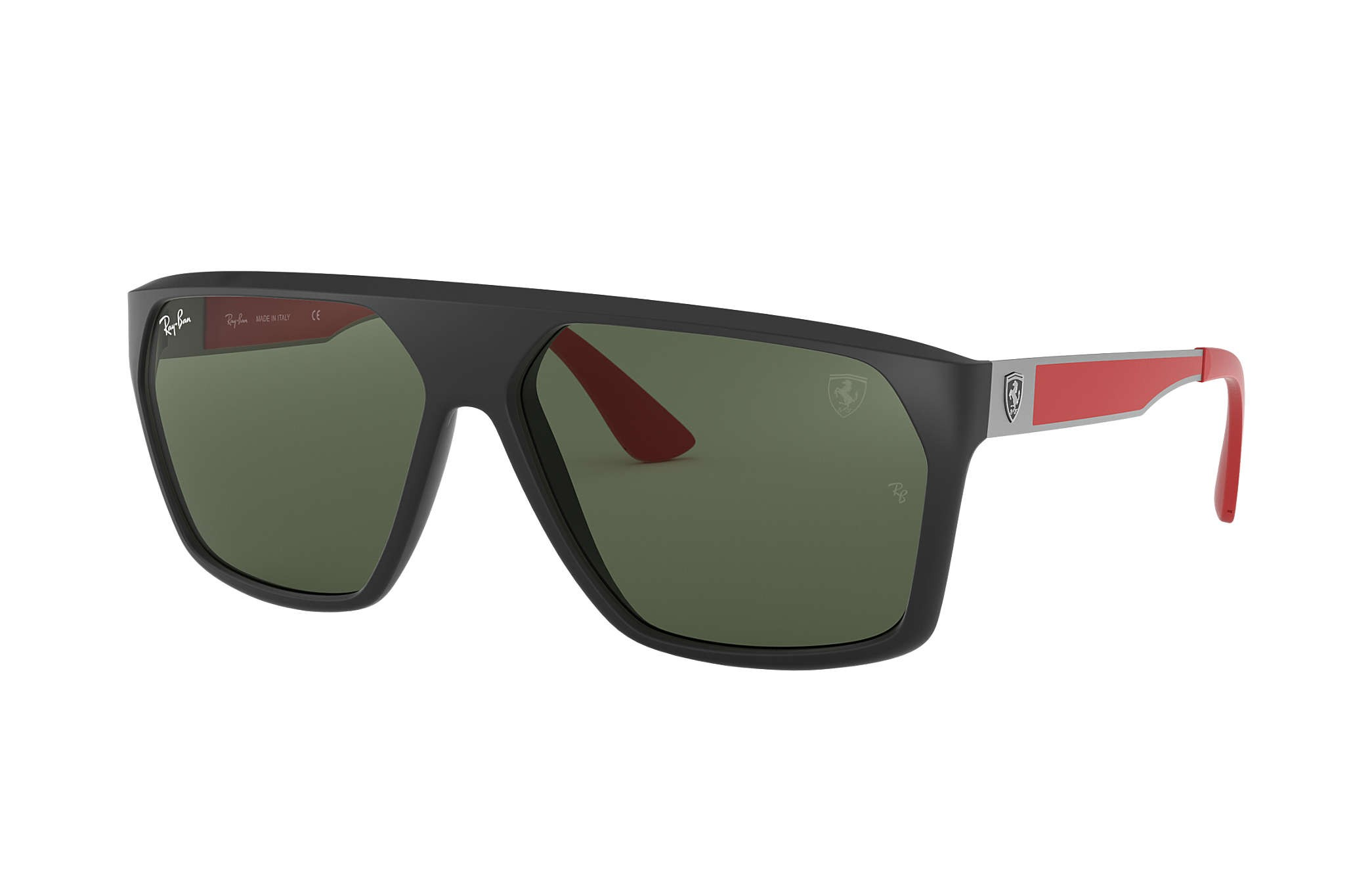 eccf171f31 Ray Ban 0RB4309M F60271 SCUDERIA FERRARI COLLECTION Black Gunmetal Red -  Green