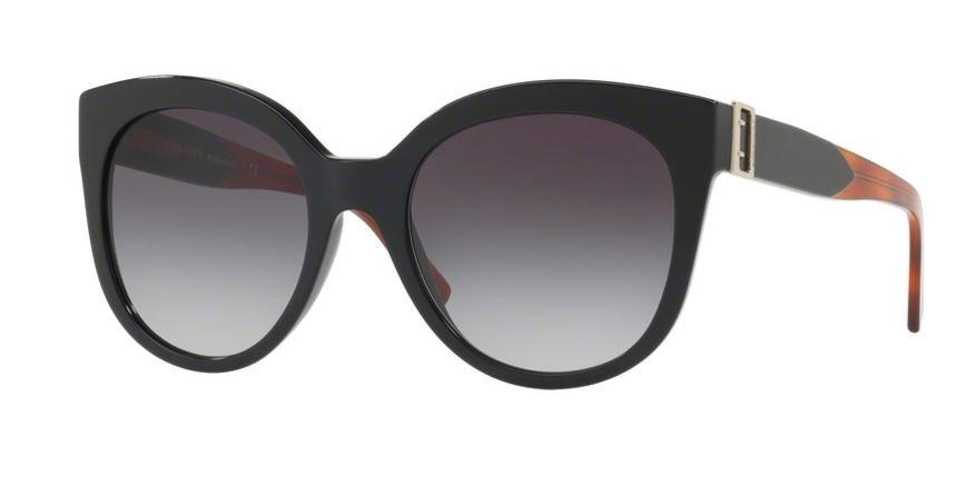 Burberry Womens 0BE4243 36378G Sunglasses, Black/Gradient, 55 Burberry