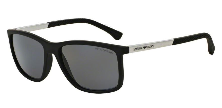 893ebc9814e Emporio Armani 0EA4058 506381 Black Rubber - Grey Polarized ...