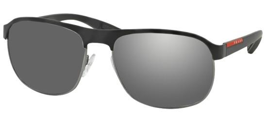 38f3c5f779 Prada Linea Rossa Sport SPS 51QS DG07W1 Black Gunmetal Rubber - Grey Mirror  Silver