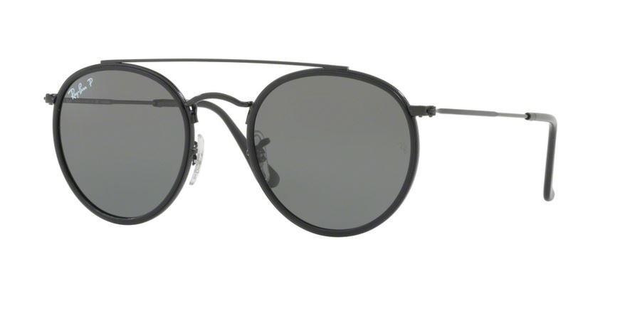 ray ban 0rb3647n 002 58 black green polarized sunglasses smartottica. Black Bedroom Furniture Sets. Home Design Ideas