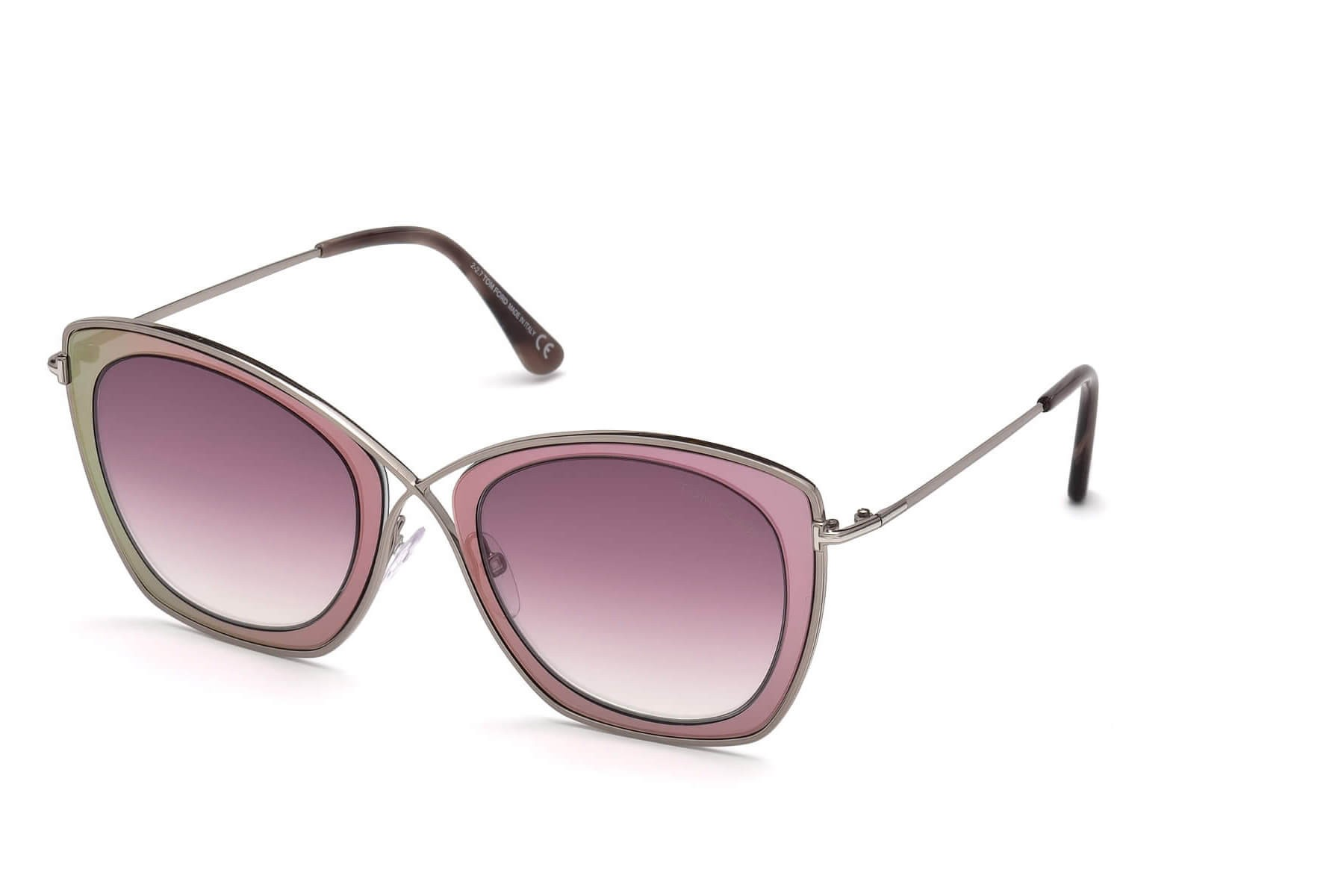 4e5f19b179d Tom Ford FT0605 INDIA-02 77T Silver Pink - Pink Shaded