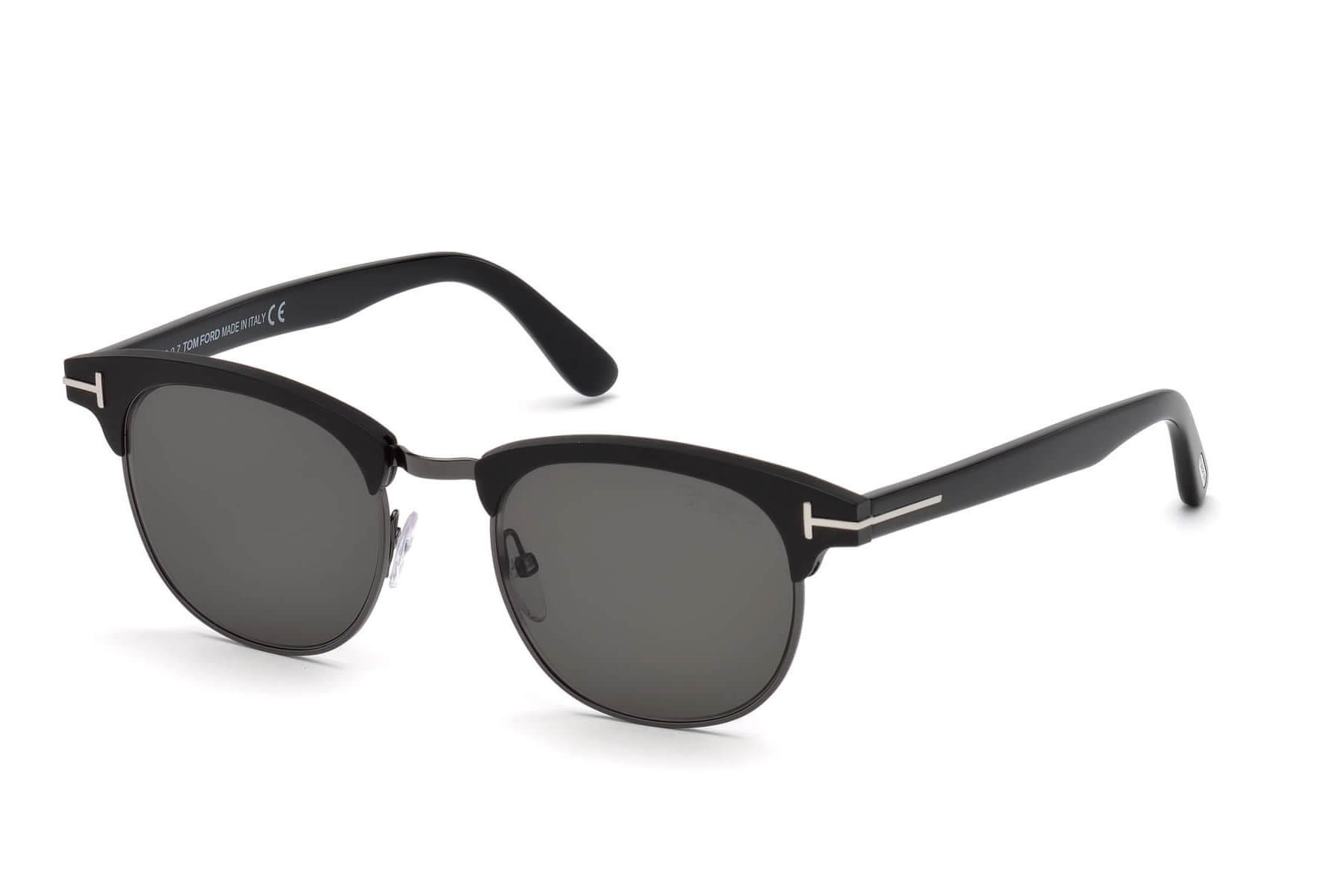 70594b43d11 Tom Ford FT0623 LAURENT-02 02D Matte Black - Smoke Polarized ...
