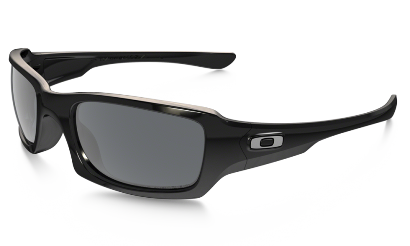 927325881d Oakley Polarized Fives Squared 9238-06 Polished Black   Black Iridium  Polarized