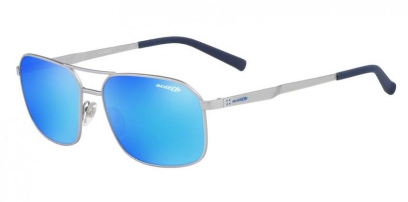 4bb7535d54699 Arnette 0AN3079 705 25 Silver Rubber - Green Mirror Light Blue