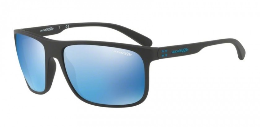 3e590367302 Arnette 0AN4244 BUSHING 01 55 Matte Black - Blue Mirror Blue