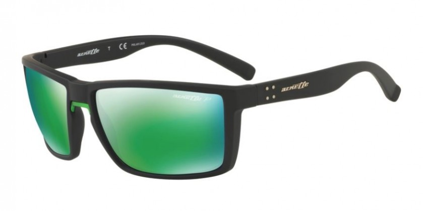 484973f368d Arnette 0AN4253 PRYDZ 01 1I Black Rubber - Polarized Dark Grey Mirror Green