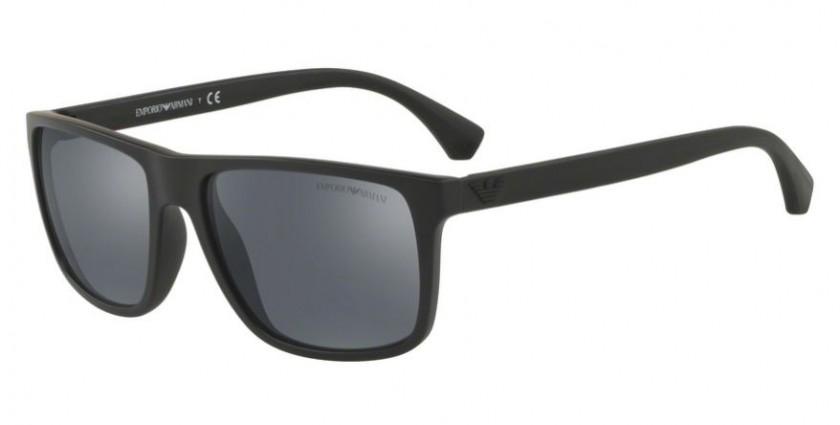 00ded1589cb Emporio Armani 0EA4033 56496Q MODERN (AR) Black Rubber - Light Grey Mirror  Black