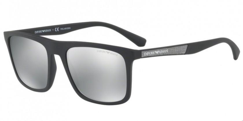 bf937341281 Emporio Armani 0EA4097 5042Z3 Matte Black - Light Grey Mirror Silver  Polarized