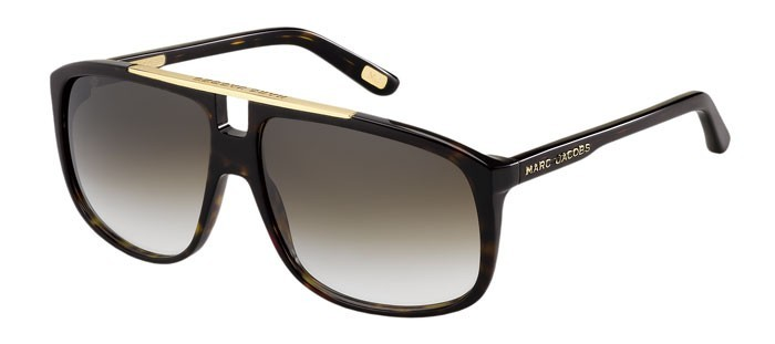 Marc Jacobs MJ 252 S 086 JS - Dark Havana   Brown Grey Shaded 2dc78e35deae