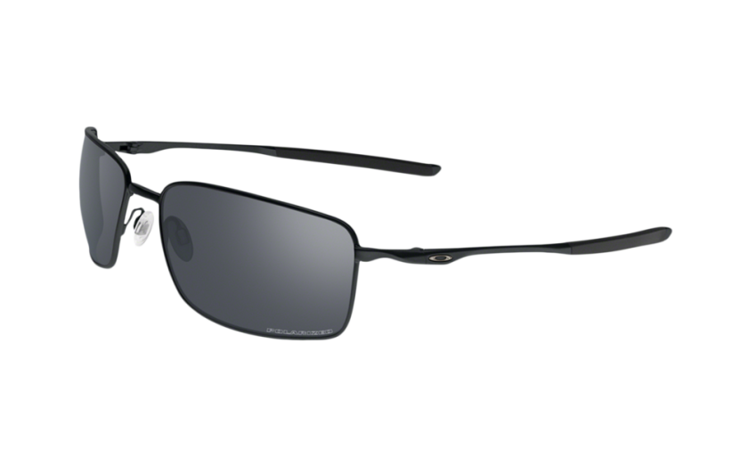 0de5238c22 Oakley Polarized Square Wire 4075-05 - Matte Black   Black Iridium Polarized