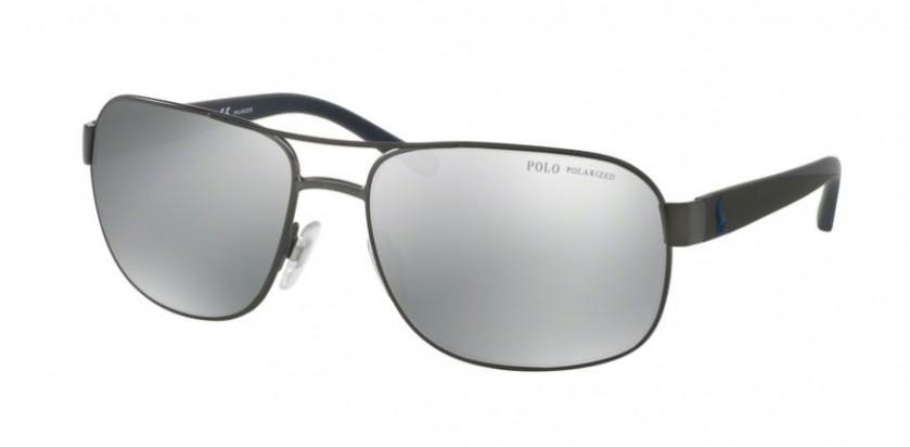 f4ed8c198134 Polo Ralph Lauren 0PH3093 9157Z3 Matte Dark Gunmetal - Grey Mirror Silver  Polarized