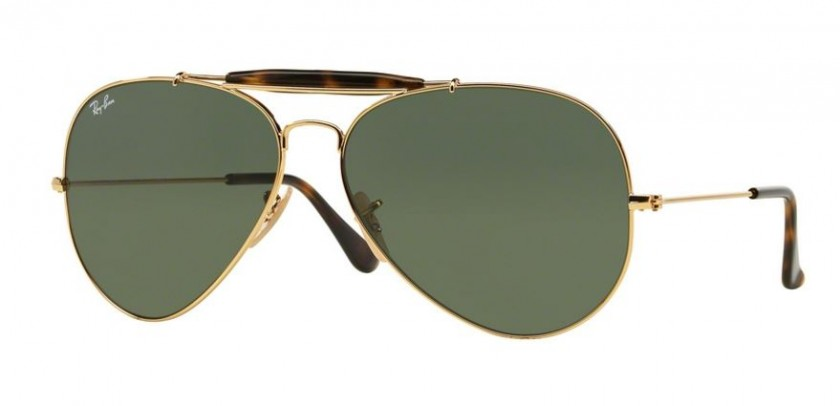 aa16d3a0a83 Ray Ban 0RB3029 OUTDOORSMAN II 181 Gold - Dark Green