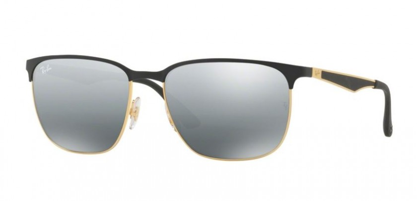 7006decc867 Ray Ban 0RB3569 187 88 Gold Top Black - Grey Mirror Silver Gradient
