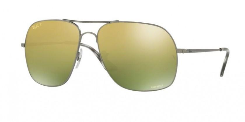 Ray Ban 0RB3587CH 029 6O Matte Gunmetal - Green Mirror Gold Gradient  Polarized 238845bd3e4f