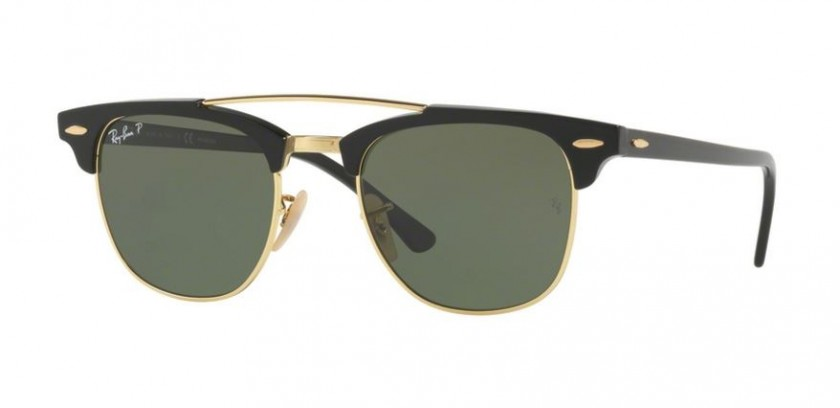 31db445ca6c Ray Ban 0RB3816 901 58 Black - Crystal Green Polarized