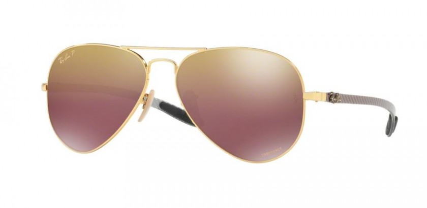 Ray Ban 0RB8317CH 001 6B Shiny Gold - Purple Mirror Gold Gradient Polarized 17a34c02391a