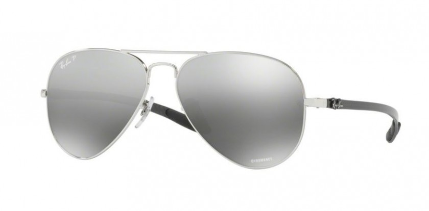 3c172cead9d Ray Ban 0RB8317CH 003 5J Shiny Silver - Grey Mirror Grey Gradient Polarized