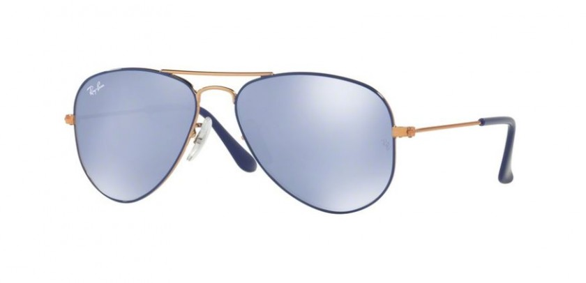 366426364b Ray Ban Junior 0RJ9506S 264 1U Copper Top on Blue - Blue Flash Silver