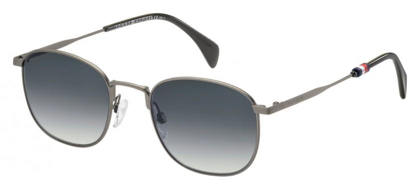 5d1155158858b Tommy Hilfiger TH 1469 S R80 9O Ruthenium Black - Grey Shaded