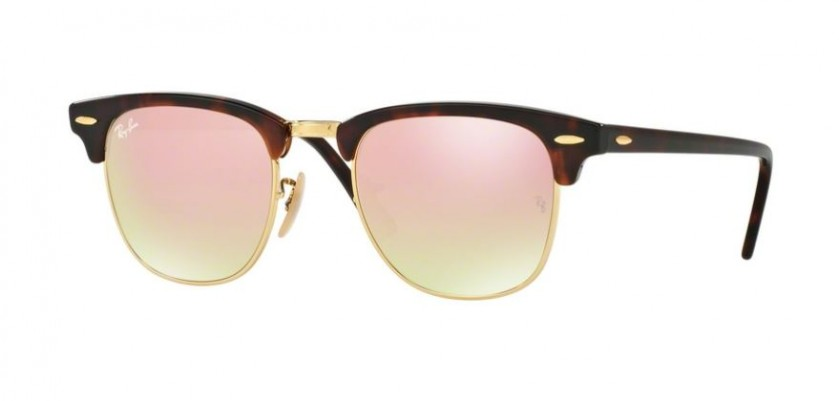 4610047d6f Ray Ban 0RB3016 CLUBMASTER 990/7O Shiny Red Havana - Copper Flash Gradient