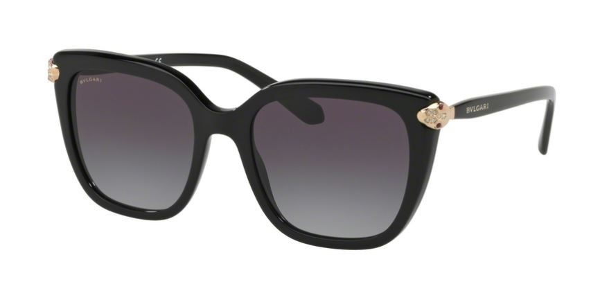 e9720fcad7e2a Óculos de Sol Bvlgari 0BV8207B 501 8G Black - Grey Gradient ...